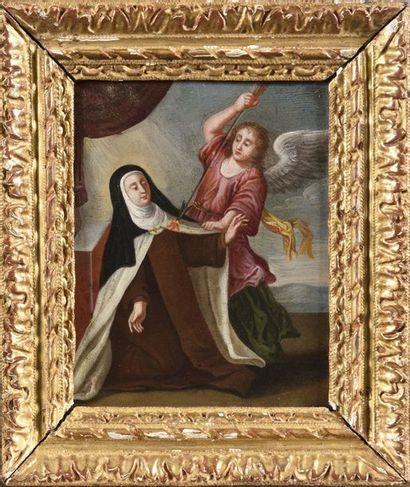 Ecole ESPAGNOLE du XVIIe siècle Sainte Thérèse...