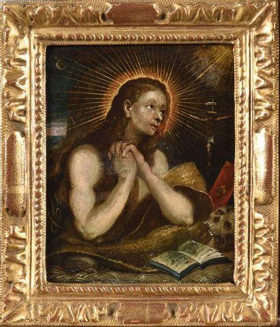 Ecole ITALIENNE du XVIIe siècle Marie-Madeleine...