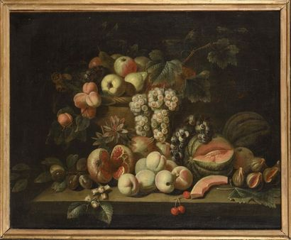 Ecole ITALIENNE du XVIIIe siècle Nature morte...