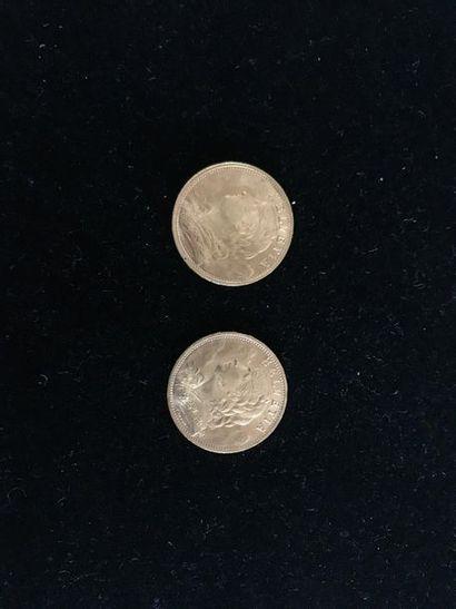 SUISSE 2 pièces 20 francs or 1930-1935 Poids...