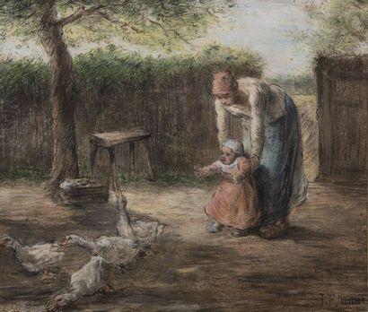 Jean François MILLET (1814-1875) Les premiers...