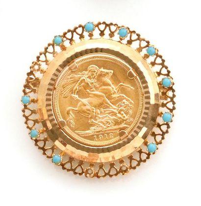 BROCHE en or jaune 750 millièmes ajourée,...