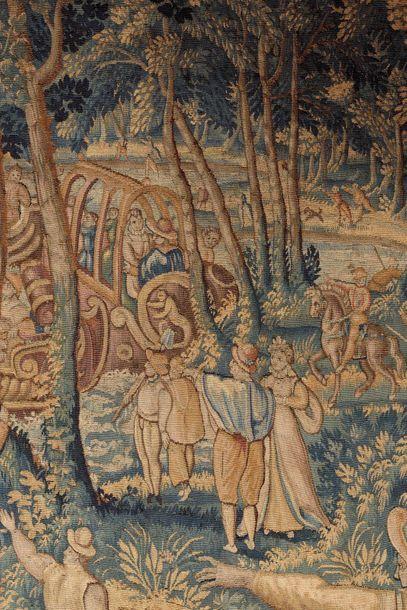 Exceptionnel fragment de panneau de tapisserie de la Manufacture Royale de la ville...