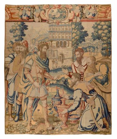 Exceptional fine tapestry panel from Brussels (Flanders) end of 16th century - beginning...