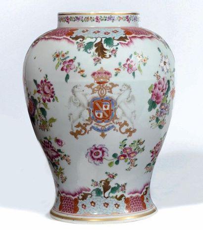 SAMSON à Paris Potiche balustre en porcelaine...