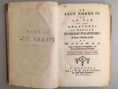 Le Faux Pierre III ou la Vie et les aventures...