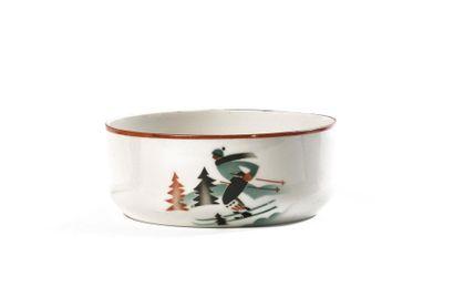 BOL au sujet d'un skieur  Porcelaine, impression...