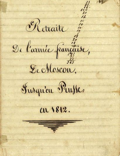 [RETRAITE DE RUSSIE]  Manuscrit d'époque,...