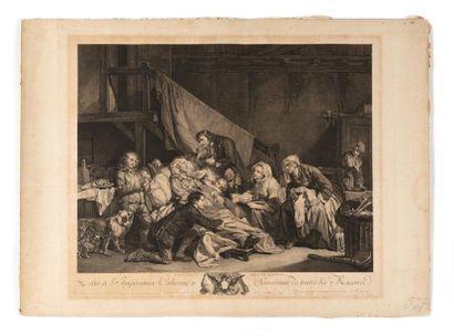 GREUZE Jean-Baptiste (1725 – 1805)  Le Paralytique...