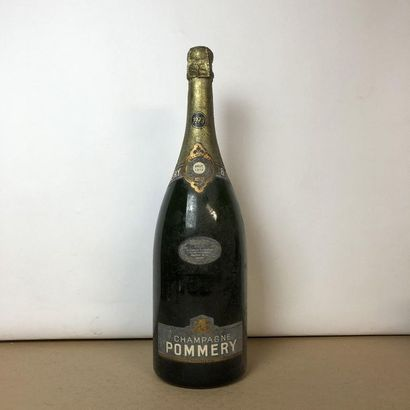1 magnum CHAMPAGNE POMMERY 1973 Brut (étiquette...