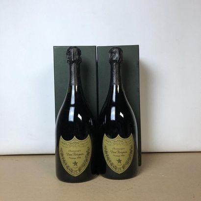 2 bouteilles CHAMPAGNE DOM PERIGNON 1996...
