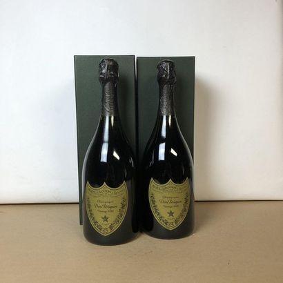 2 bouteilles CHAMPAGNE DOM PERIGNON 1998...