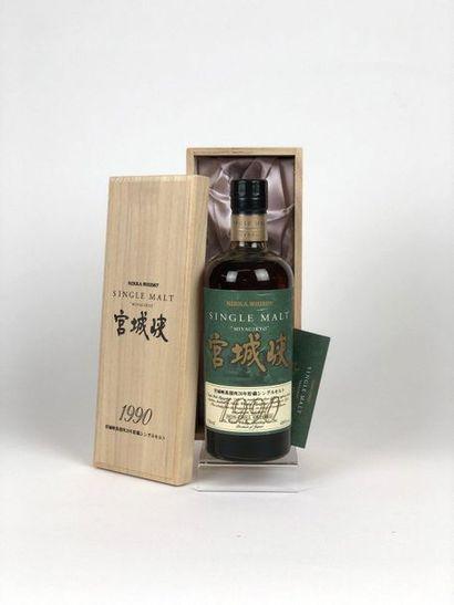 1 bouteille WHISKY NIKKA 1990 «Miyagikyo»...
