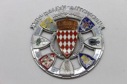 Badge du XXIV° Rallye Monte Carlo 1954  Badge...