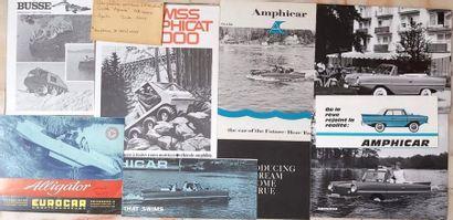 Documentation publicitaire voitures amphibies...