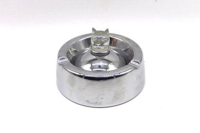 Cendrier Marchal  Cendrier en métal chromé...