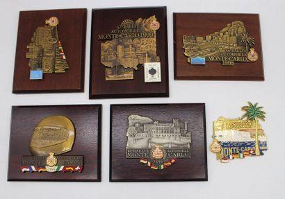 Badges des 62 à 67° rallyes Monte Carlo  6...