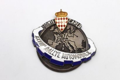 Badge du XXVIII° rallye Monte Carlo 1958...