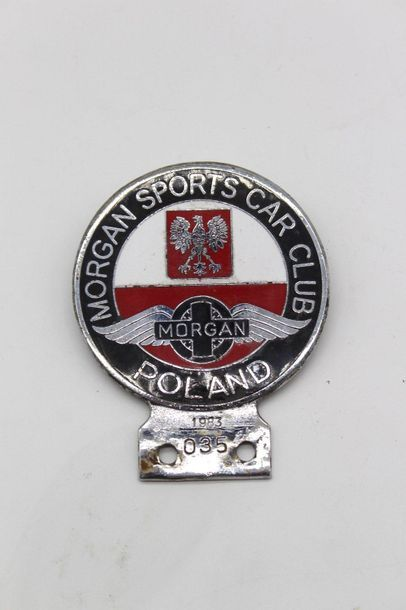 Badge club Morgan  Badge en métal chromé...