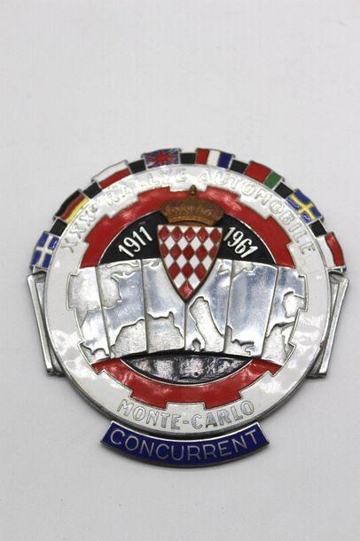 Concurrent du XXX° Rallye Monte Carlo 1961...