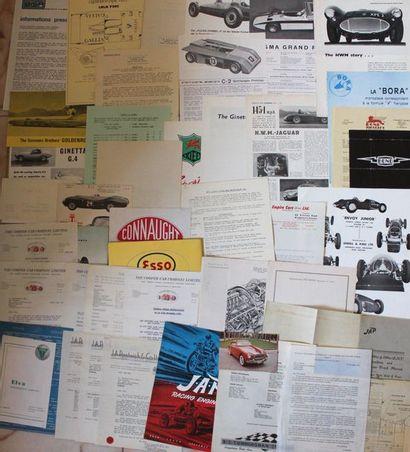 Documentation moteurs et voitures de course...