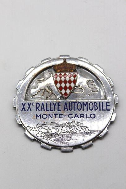 Badge du XX° Rallye Monte Carlo 1950  Badge...
