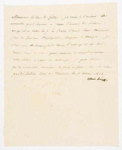 MARIE-LOUISE (Impératrice). Lettre signée...