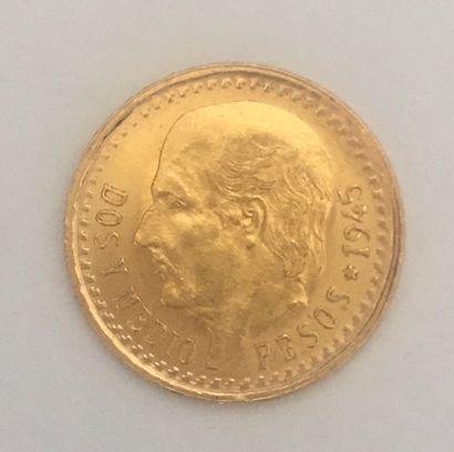 MEXIQUE Dos y Medio Pesos 1945 Poids : 2.1...