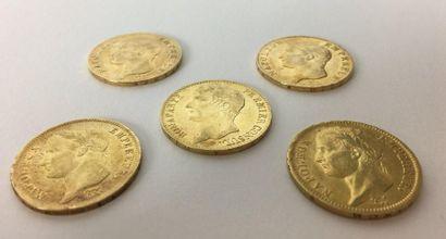 FRANCE Napoléon Ier Empereur 40 francs or,...