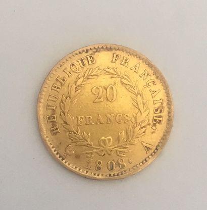 FRANCE 20 franc or Napoléon 1808 Poids :...
