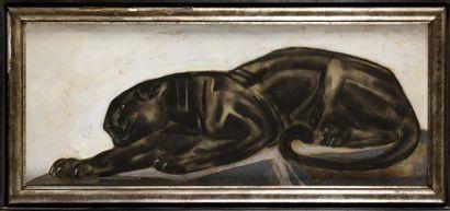 PAUL JOUVE (FRA/ 1878-1973) Panthère allongée...