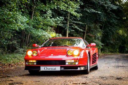 1990 FERRARI TESTAROSSA Numéro de série ZFFAA17B000084253  Vendue neuve en France...