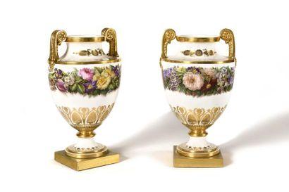 Sèvres Paire de vases royaux nommés vases...