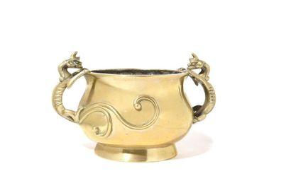 Chine Brûle-parfums circulaire en bronze...