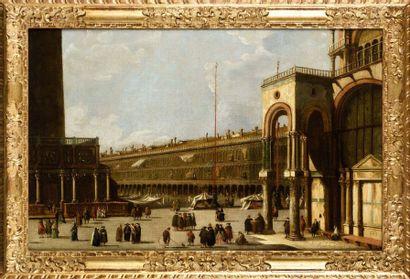 Dans le gout de Canaletto Vue des Procuraties...