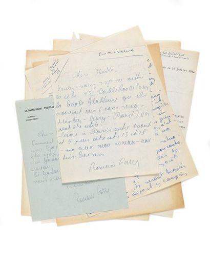 GARY (Romain). Correspondance de 9 lettres...