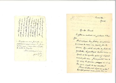 GIDE (André). 7 lettres autographes signées...