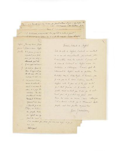 GIRAUDOUX (Jean). 2 manuscrits, l'un autographe...