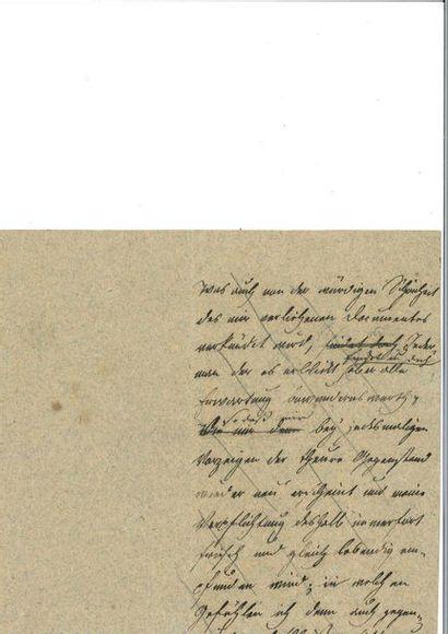 GOETHE (Johann Wolfgang von). Fragment de...