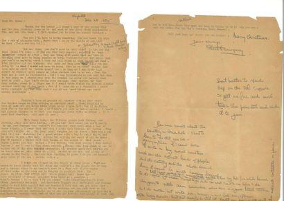 HEMINGWAY (Ernest). Lettre signée avec corrections...