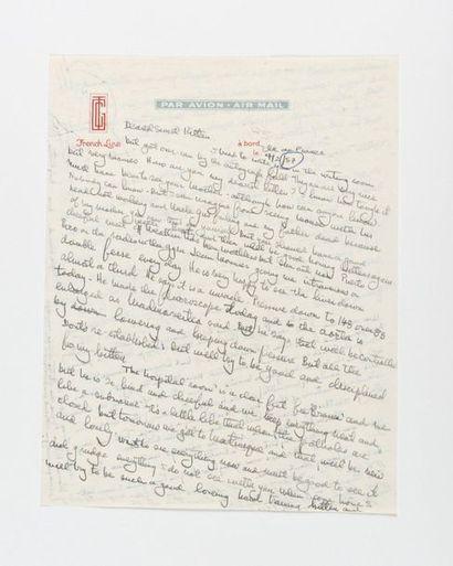 HEMINGWAY (Ernest). Lettre autographe signée...