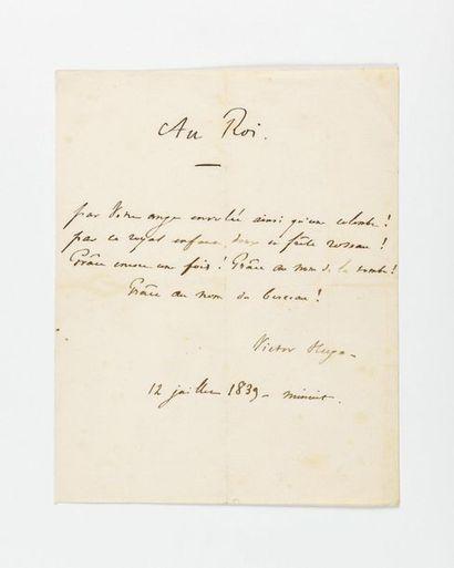 HUGO (Victor). Poème autographe signé intitulé...
