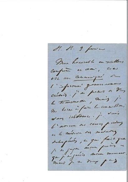 HUGO (Victor). Lettre autographe signée à...