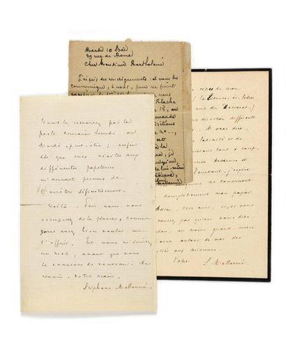 MALLARMÉ (Stéphane). 3 lettres autographes...
