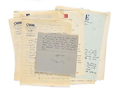 NIMIER (Roger ). Ensemble de 20 lettres (6...