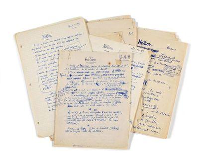 PONGE (Fra ncis). Notes autographes. 8 novembre...