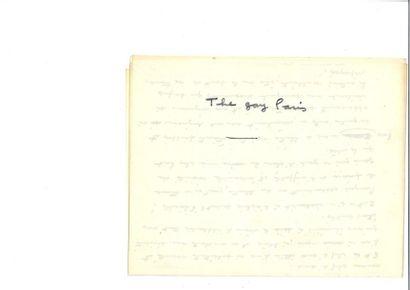 PRÉVERT (Jacque s). 2 poèmes autographes...