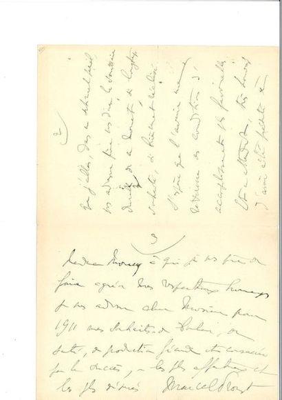 PROUST (Marcel). Lettre autographe signée...