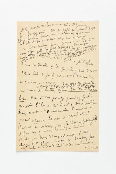 PROUST (Marcel). Lettre autographe à Jacques...