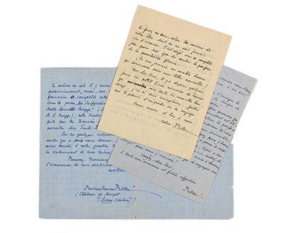 RILKE (Rainer -Maria ). 3 lettres autographes...